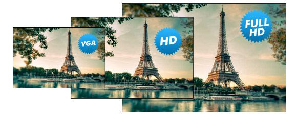 VGA HD Full HD