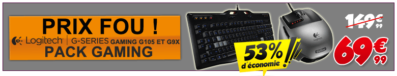 Bundle Logtech G9x G105 GZ