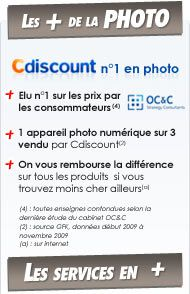 Les + Cdiscount Photo