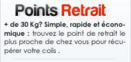 points retrait